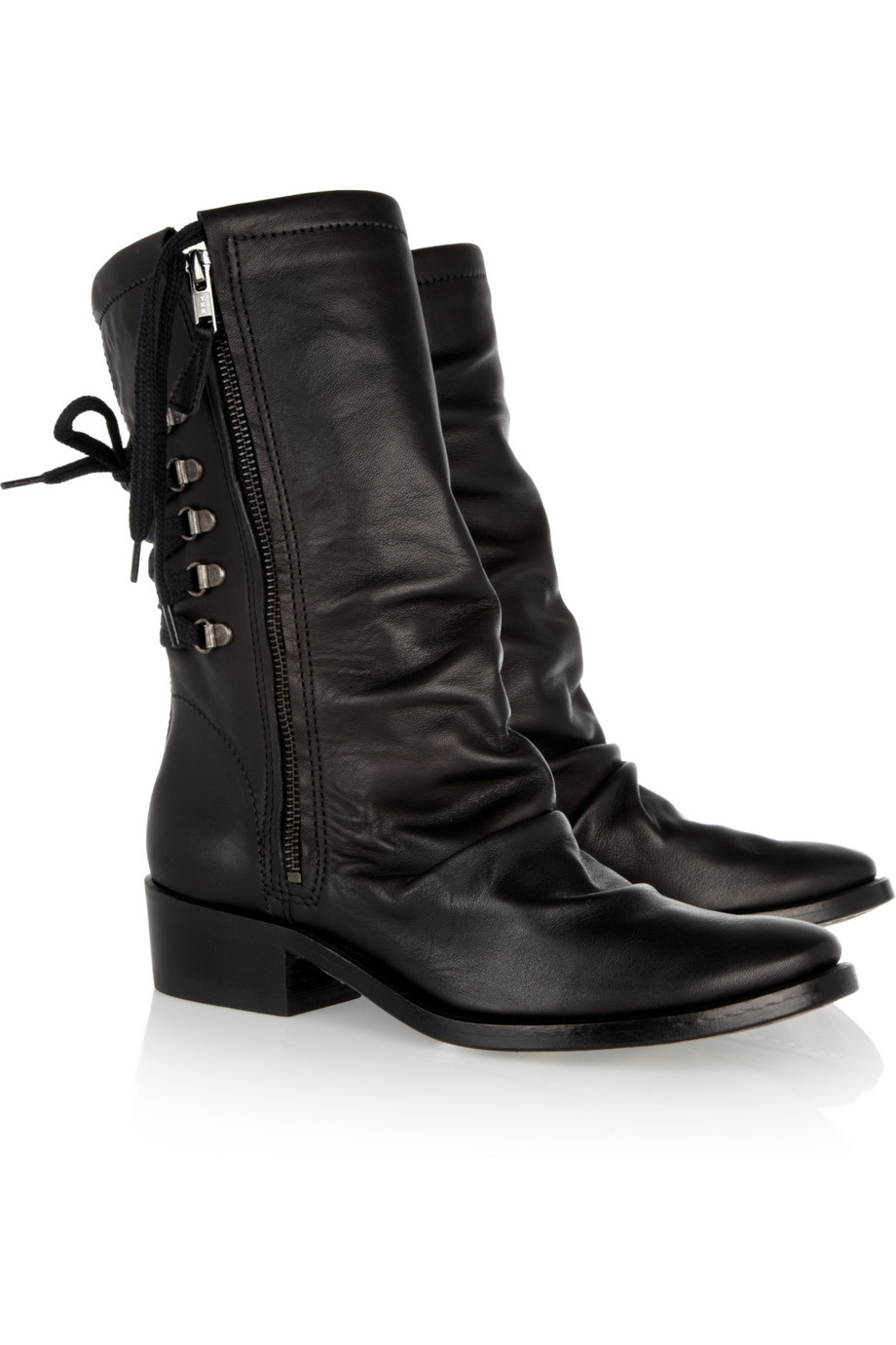 georgina goodman billy leather calf boots in black lyst