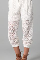 Pencey Lace Pants - Lyst