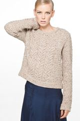 Rag & Bone Montgomery Crop Sweater in Antelope - Lyst