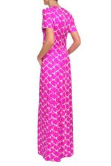 Balenciaga Printed Silk Twill Column Dress in Purple (fuchsia) - Lyst