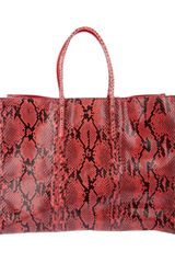 Balenciaga Python Skin Papier A4 Bag in Red - Lyst