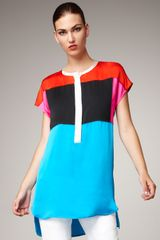 Bottega Veneta Colorblock Tunic - Lyst