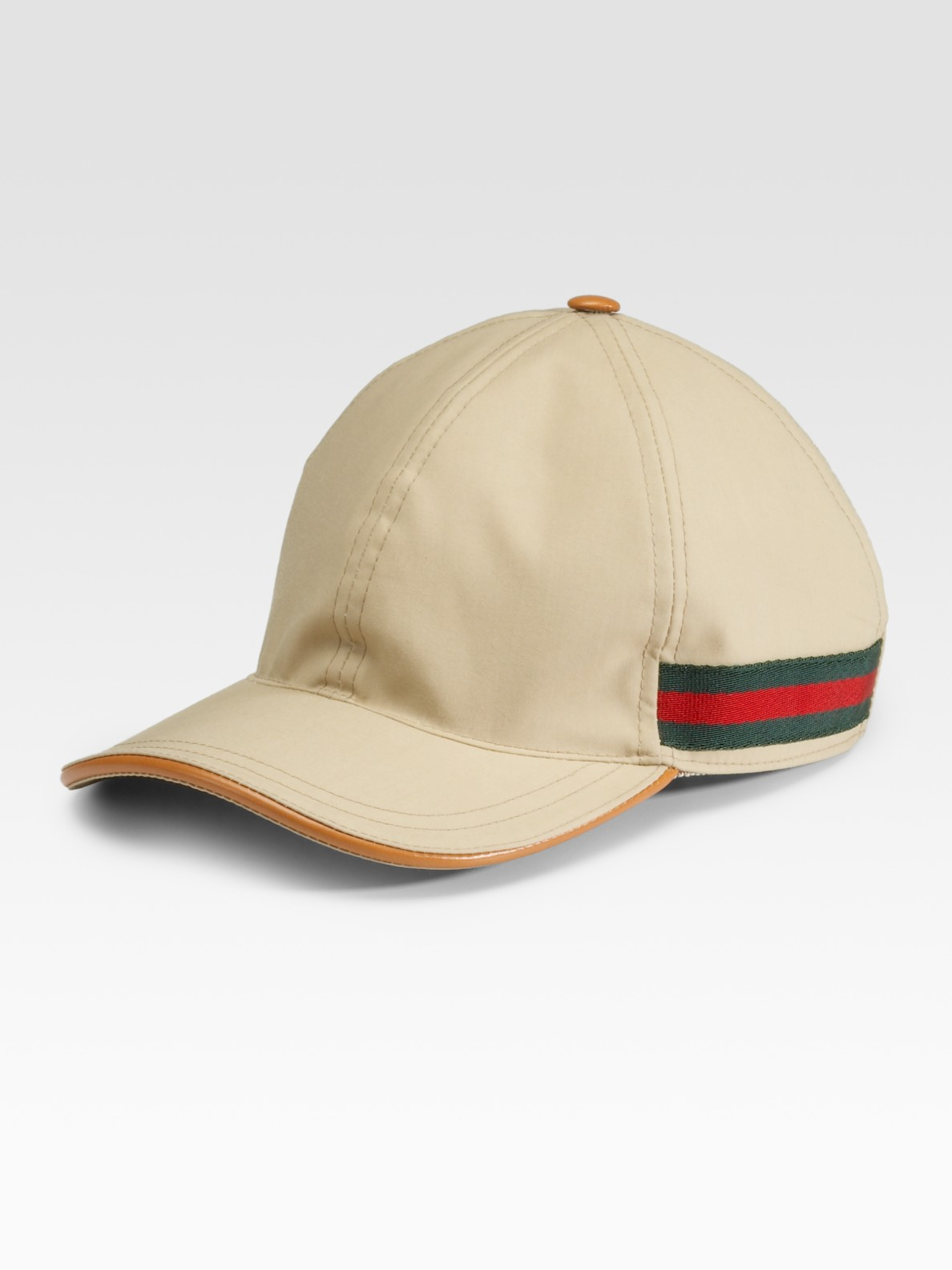 12d65405d3a51 Gucci Baseball Hat in Natural for Men - Lyst