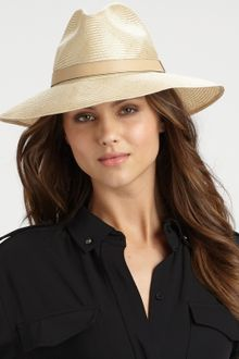 Gucci Gros Grain-Trimmed Straw Hat - Lyst