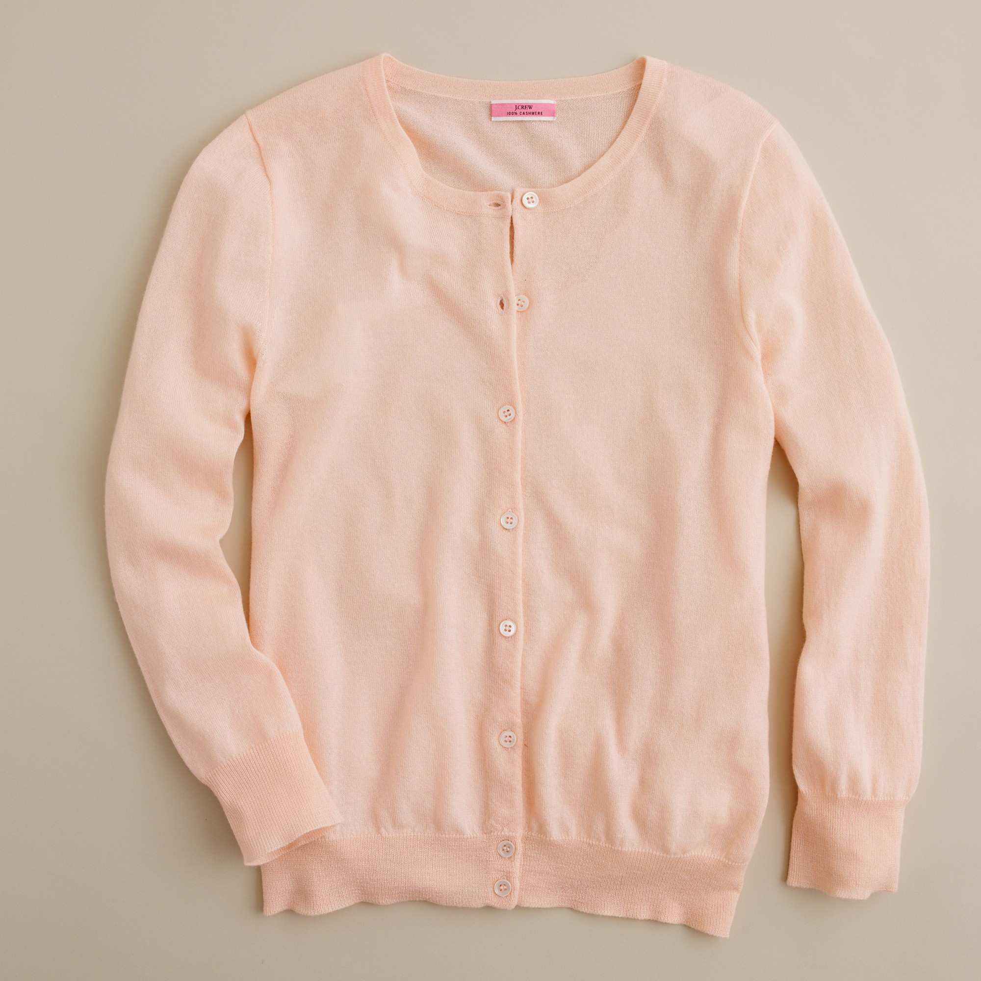 J.crew Featherweight Cashmere Cardigan in Pink | Lyst