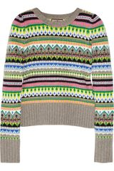 Juicy Couture Fair Isle Neon Wool-Blend Sweater - Lyst
