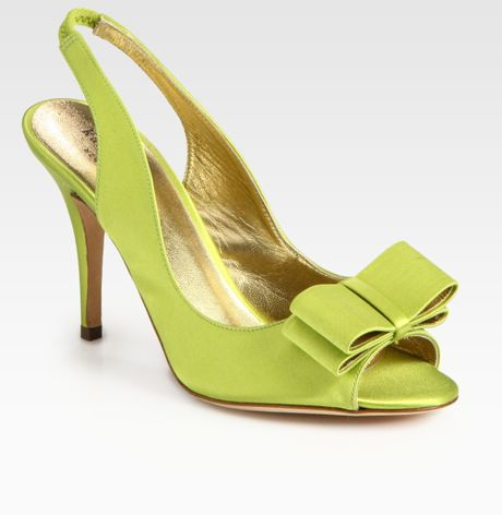 kate spade high heel shoes in green lime lyst