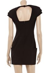 Mackage PeakShouldered Twill Mini Dress in Black (brown) - Lyst