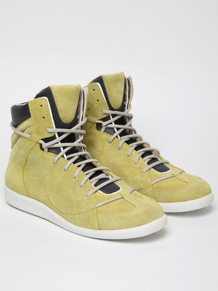 Maison Margiela 22 Mens High Top Sneaker in Yellow for Men