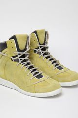 Maison Martin Margiela 22 Mens High Top Sneaker in Yellow for Men - Lyst