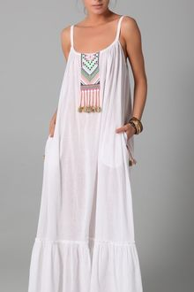 Mara Hoffman Embroidered Peasant Dress - Lyst