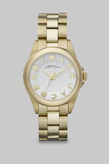 Marc By Marc Jacobs Logo Embellished Stainless Steel Watch/goldtone Ip - Lyst