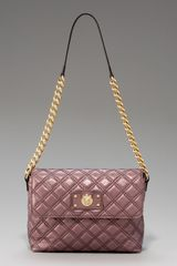 Marc Jacobs Metallic Quilted Bag, Large - Lyst