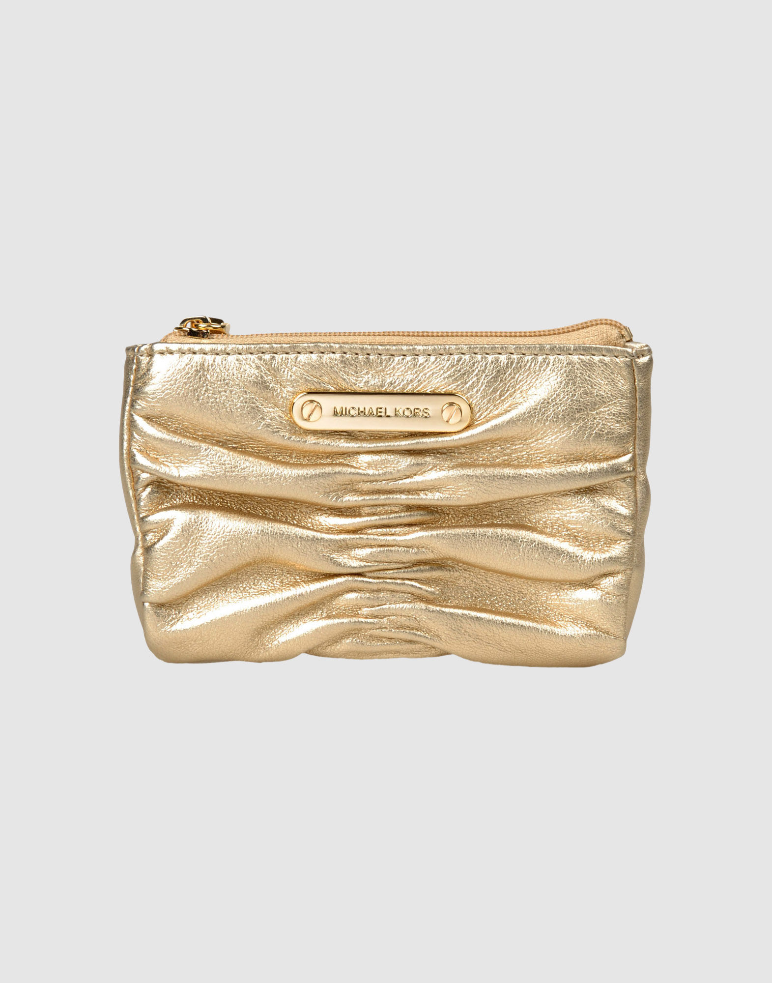 Michael Kors Coin Purses In Gold Lyst