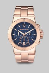 Michael Kors Rose Gold Stainless Steel Chronograph Watch - Lyst