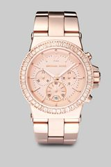 Michael Kors Rose Goldtone Stainless Steel & Crystal Chronograph Watch - Lyst