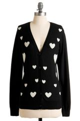 ModCloth Heart-ly Contain Myself Cardigan - Lyst