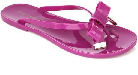 Mulberry Bowfront Jelly Shoes in Pink (fuchsia) - Lyst