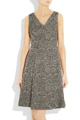 Oscar De La Renta Cottonblend Tweed Dress in Black - Lyst