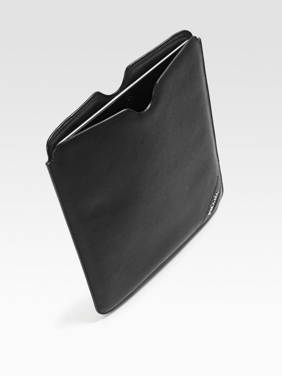 ea564572108e Lyst - Prada Leather Case For Ipad in Black for Men