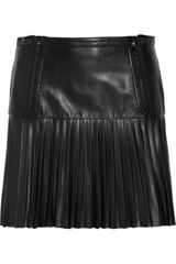 Rag & Bone Ezra Pleated Leather Mini Skirt - Lyst