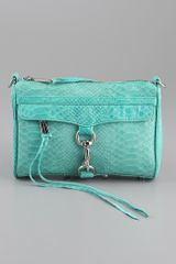 Rebecca Minkoff Mini Mac Snake Clutch - Lyst