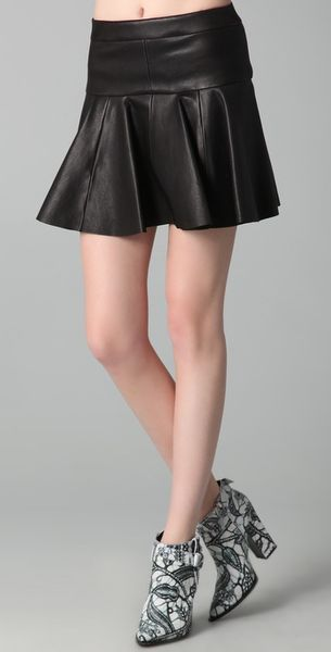 Thakoon Leather Tulip Skirt - Lyst