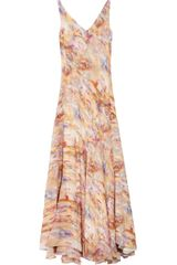 Theyskens' Theory Watercolor-print Silk Maxi Dress - Lyst
