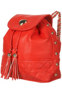 Topshop Red Heart Trim Backpack - Lyst