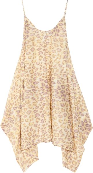 Zimmermann Leopardprint Cottonvoile Sundress in Beige (leopard) - Lyst