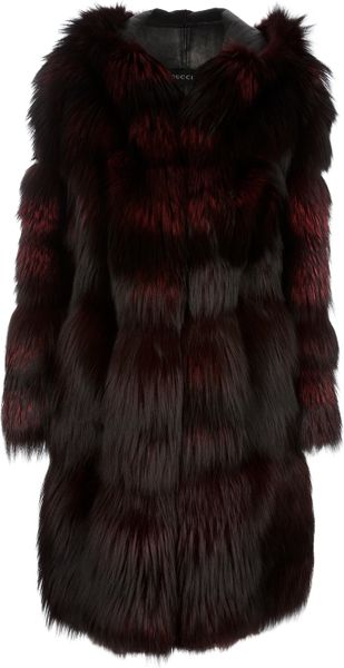Gucci Vintage Fox Fur Coat - Lyst