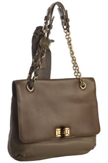 Lanvin Brown Two-tone Leather Happy Mm Shoulder Bag - Lyst