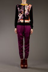 Vionnet Tapered Trouser in Purple (burgundy) - Lyst