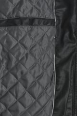 Calvin Klein Black Faux Leather Motorcycle Jacket in Black for Men - Lyst