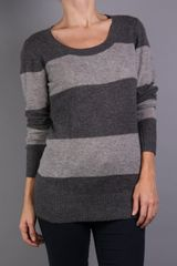 Enza Costa Cashmere Stripe Sweater - Lyst