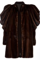 Gianni Versace Vintage Mink Fur Coat in Brown - Lyst