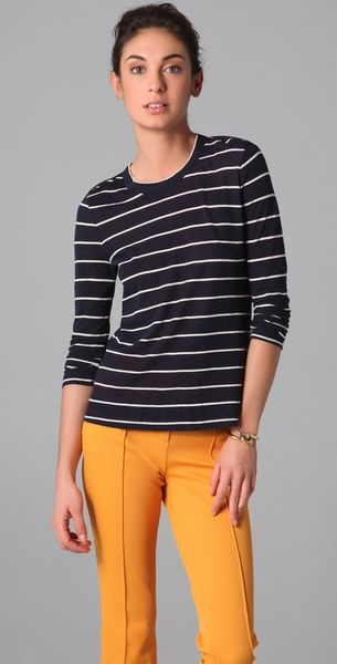 A.l.c. Travis Stripe T-shirt in Blue