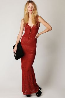 Free People Gialos Crochet Maxi Dress - Lyst