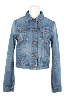 J Brand x Christopher Kane Faded Denim Jacket - Lyst
