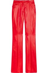 Paul & Joe Respira Glossed-twill Flared Pants - Lyst