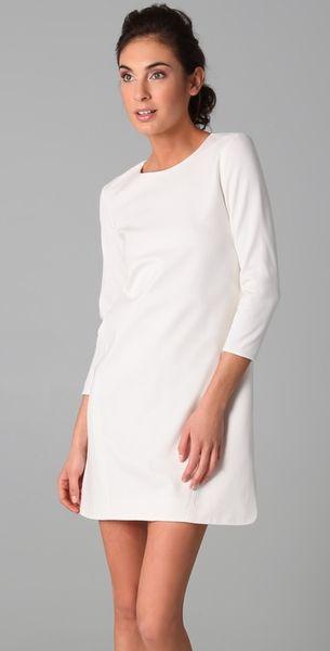 Tibi Long Sleeve Dress In White Lyst