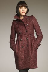 Burberry Double-breasted Boucle Coat - Lyst