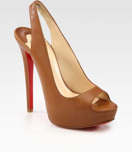 Christian Louboutin Platform Pump in Brown - Lyst