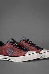 John Varvatos Leather Star Player Oxford in Red for Men (red/blue) - Lyst