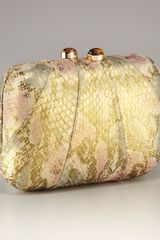 Kotur Morley Snakeskin Gold Mini Box Clutch - Lyst