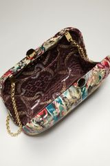 Kotur Morley Baroque Floral Brocade Mini Box Clutch  in Multicolor (teal) - Lyst