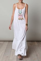 Mara Hoffman Embroidered Dress in White - Lyst