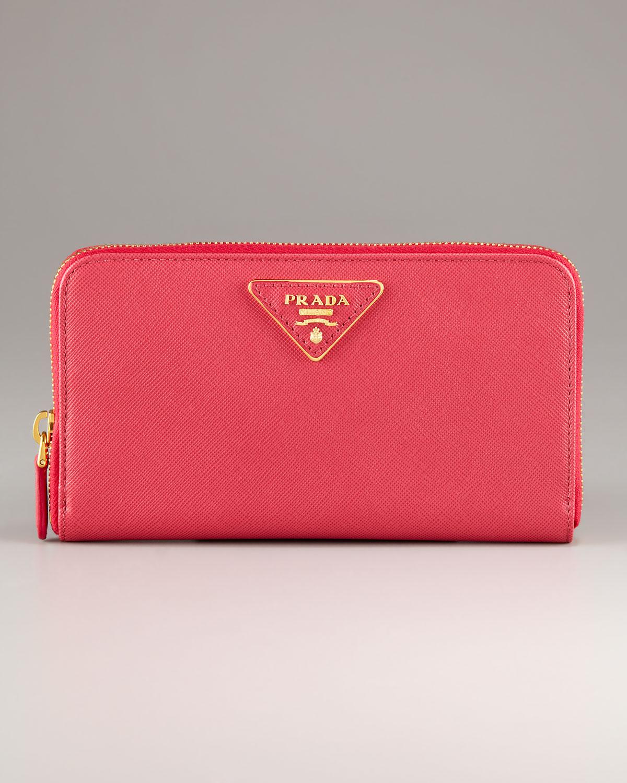 leather prada wallet