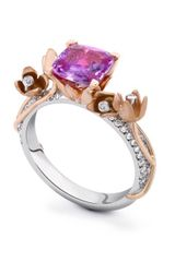 Theo Fennell Pink Sapphire and Diamond Tulip Tryst Ring in Pink - Lyst