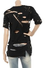 Balmain Safetypin Cotton Tshirt in Black - Lyst